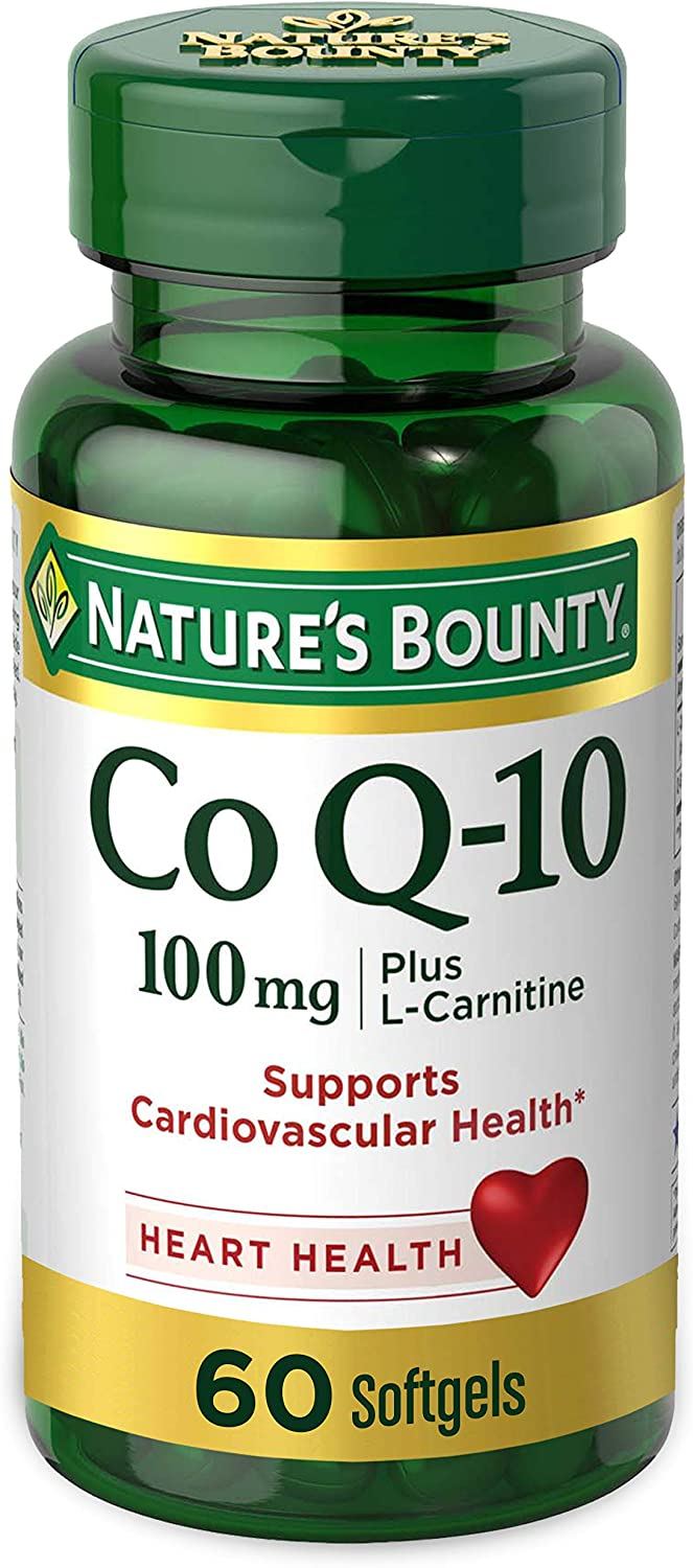 Nature's Bounty CoQ10 100mg Plus with L carnitine 60 Softgels