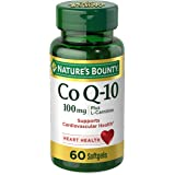 Nature's Bounty CoQ10 by, Dietary Supplement, Supports Heart Health, 100mg Plus L-Carnitine, Softgels, 100 mg, 60 Count