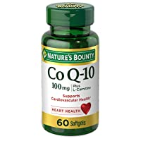 CoQ10 by Nature's Bounty, Dietary Supplement, Supports Heart Health, 100mg Plus L-Carnitine, 60 Softgels