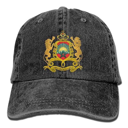 2596682277f Men and Women Cap Coat Of Arms Of Morocco Hat Snap-Back Hip-Hop Cap ...