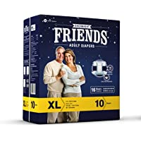 FRIENDS OVERNIGHT ADULT DIAPER 10'S PACK (EXTRA LARGE)