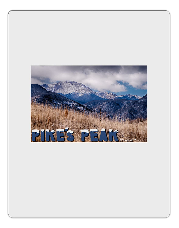TooLoud Pikes Peak CO Mountains Text Aluminum Dry Erase Board