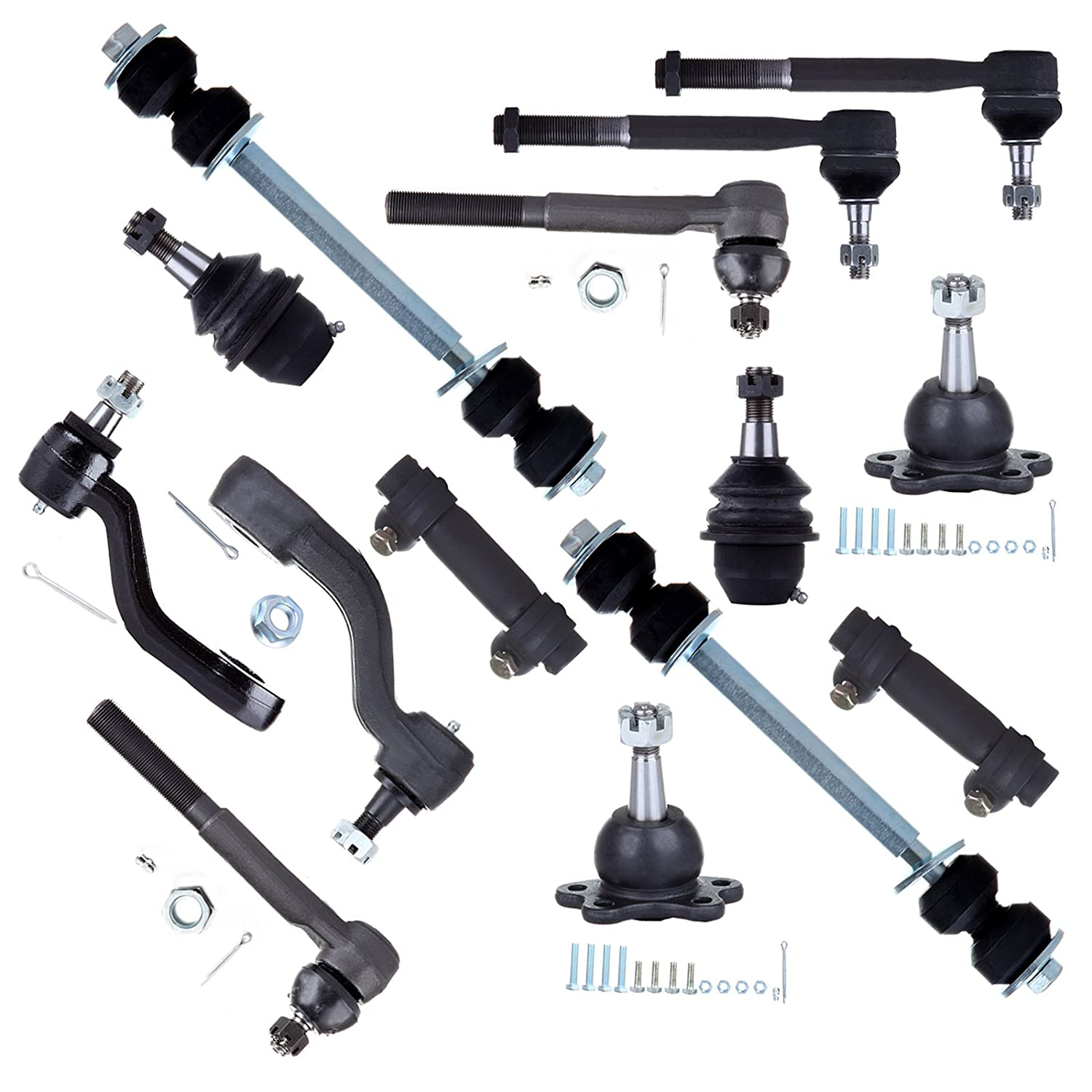 Scitoo 13PC Front Suspension Kit Tie Rod End Idler Arm fit 96 97 98 99 Chevrolet K1500 Suburban 801678-5206-1733511