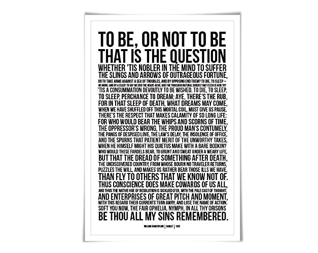 Amazoncom Hamlets Soliloquy To Be Or Not To Be Art Print