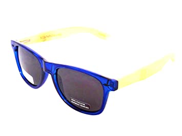 4d3f54d5042 BLUE PLANET Sunglasses ECO Friendly Men Women Sustainable Bamboo Ladies  Designer Eyewear Blue Polarized