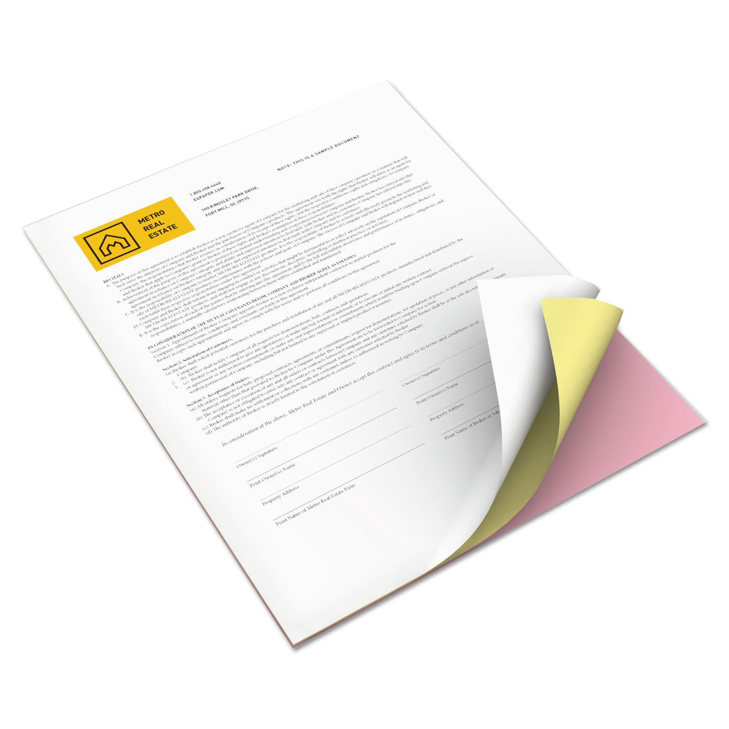 Xerox 3R12425 Revolution Digital Carbonless Paper, 8 1/2 x 11, Wh/Can/Pink, 5,000 Sheets/CT by Xerox (Image #1)