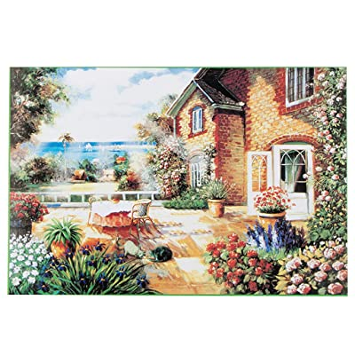 Puzzles for Adults, 1000 Piece Puzzle for Adults Kids Gift - Seaside Cottage Painting Jigsaw Puzzle: Toys & Games