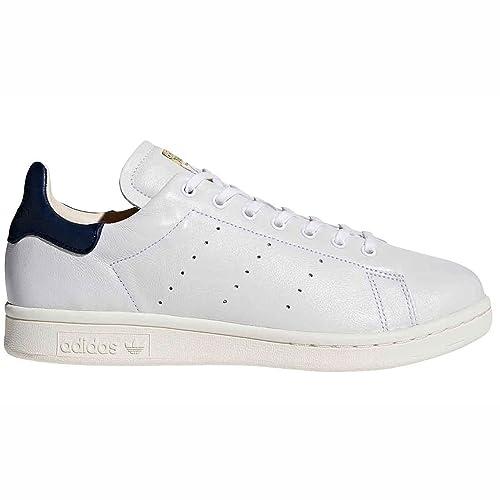 Scarpe da Ginnastica Adidas Stan Smith in Pelle Bianca da Uomo. Sneaker Basketballs S75074 (