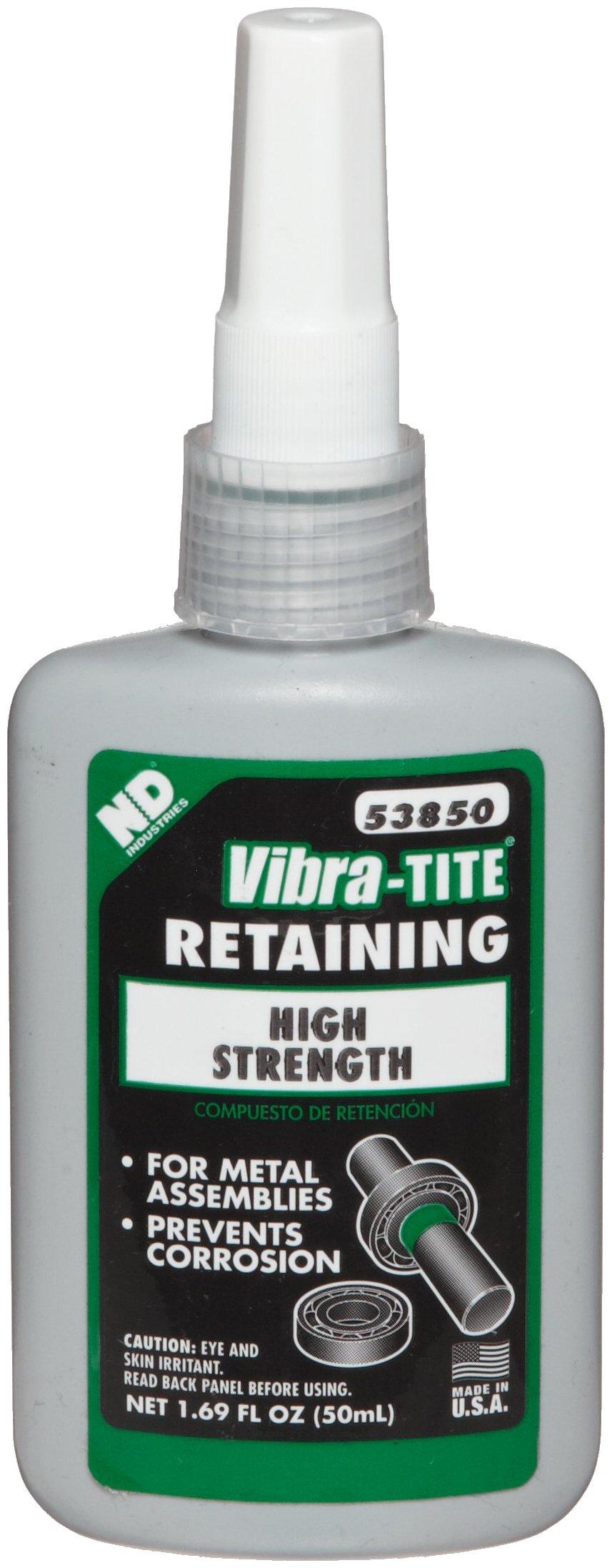 Vibra-TITE 538 High Strength Anaerobic Retaining Compound, 50 ml Bottle, Green