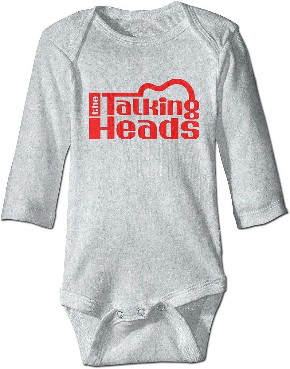 Smooffly Newborn Baby Boys Girls Talking Heads Logo Long-Sleeve Bodysuit One-Piece Playsuits