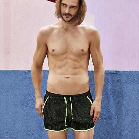 JUTOO 2019 Traje de baño Pantalones Cortos para Hombres Bañadores de natación Secado rápido Playa Surf Correr Natación Corta Agua