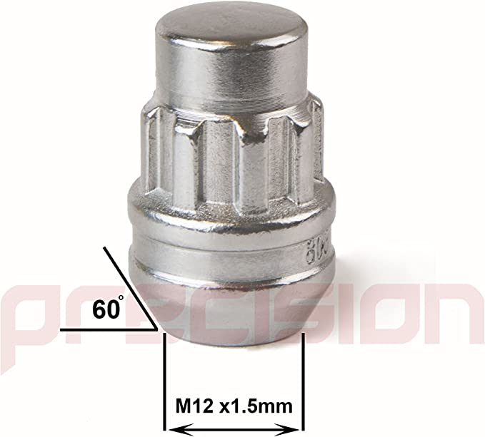 Chrome Locking Nuts for Ĵaguar XF with Aftermarket Alloy Wheels Part No.N10166