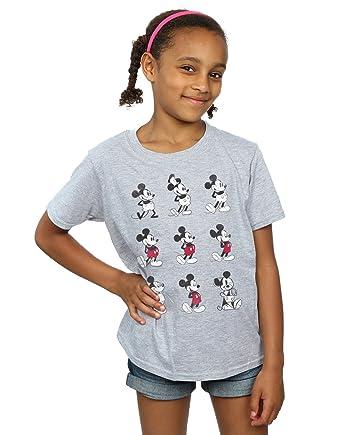 3baead12 Disney Girls Mickey Mouse Evolution T-Shirt: Amazon.co.uk: Clothing