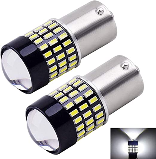 SEALIGHT Amber Yellow 1156 1141 1003 BA15S 1156A LED Bulb with Projector Super Bright 27-SMD 2835 Chipsets Replacement for Turn Signal Lights Side Marker Lights Pack of 2