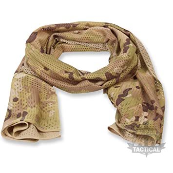 BRITISH ARMY GREEN SCRIM - GRADE 1 USED - SCARF - FAST AND