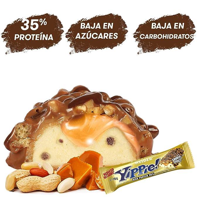 JOE WEIDER VICTORY Yippie Bar BULK Cacahuete-Caramelo 70g x 24 unidades: Amazon.es: Salud y cuidado personal