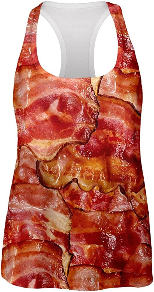 Bacon All Over Womens Racerback Tank Top