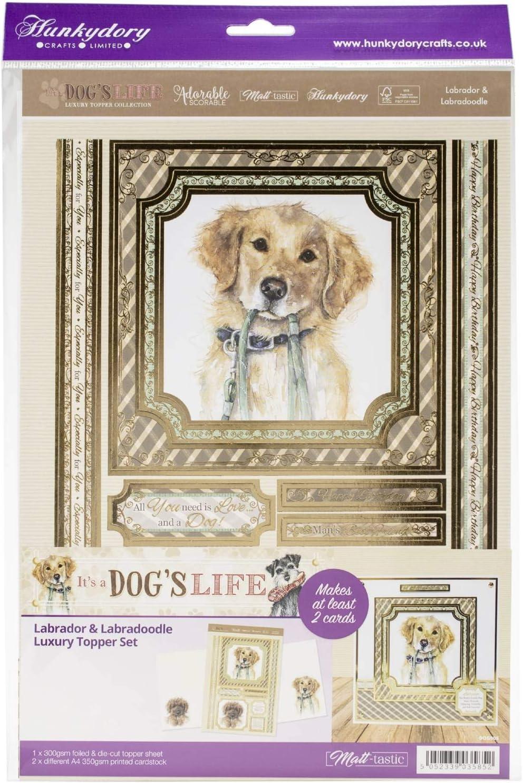 It/'s a Dog/'s Life Luxury Topper Set A4 Hunkydory SCHNAUZER//BOXER