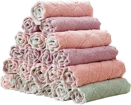 10//20PCS Polieren Waschen Mikrofaser Reinigungstuch Bambus Scrubbing Cloth