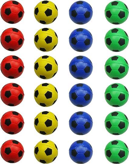 Amazon.com: MOMOONNON - Pelota de fútbol, multicolor, 24 ...