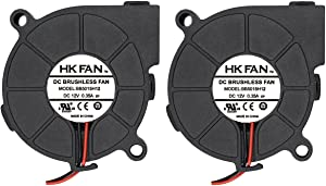 2pack 50mm x 15mm 5015 12V Dual Ball Bearing DC Brushless Cooling Blower Fan BB5015H12 with 2 Pin Terminal UL TUV