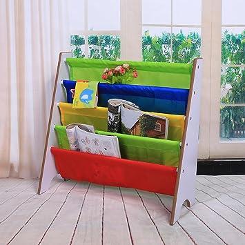 Para Con Bolsillomarco Estantería De Muebles Juguetes Madera Niños Gototop Infantil Almacenamiento Librería Estante dCxWBroe