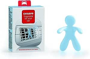 MrandMrs Fragrance Cesare Car Air Freshener - Cashmere, Pastel Blue