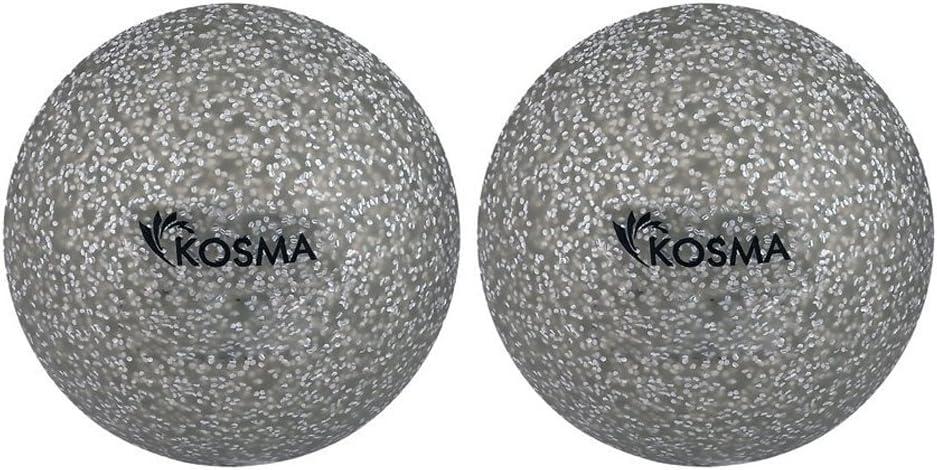 Kosma Set von 2/Glitter Hockey Ball Outdoor Sports PVC Praxis Training B/älle