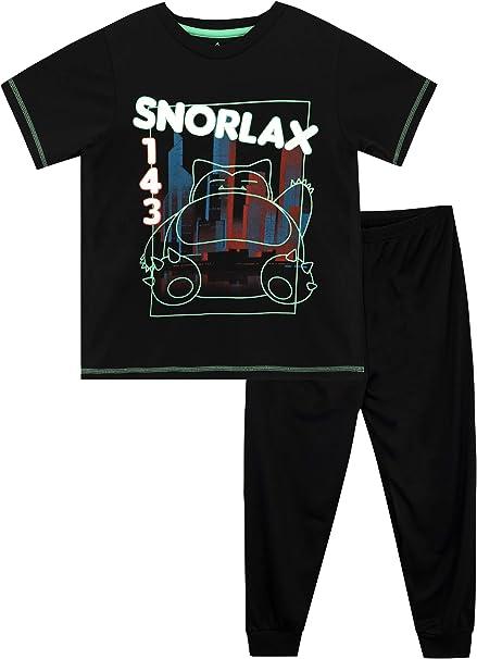 Pokemon Boys Snorlax Pajamas Glow in The Dark