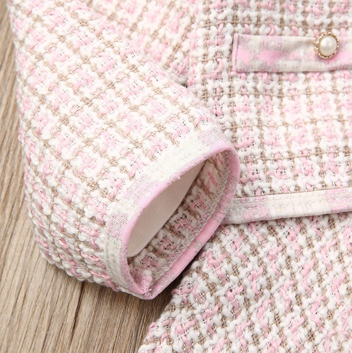 Button Skirt Dress Outfit mataorso Toddler Baby Girls Fall Winter Clothes Pompom Knitted Sweater