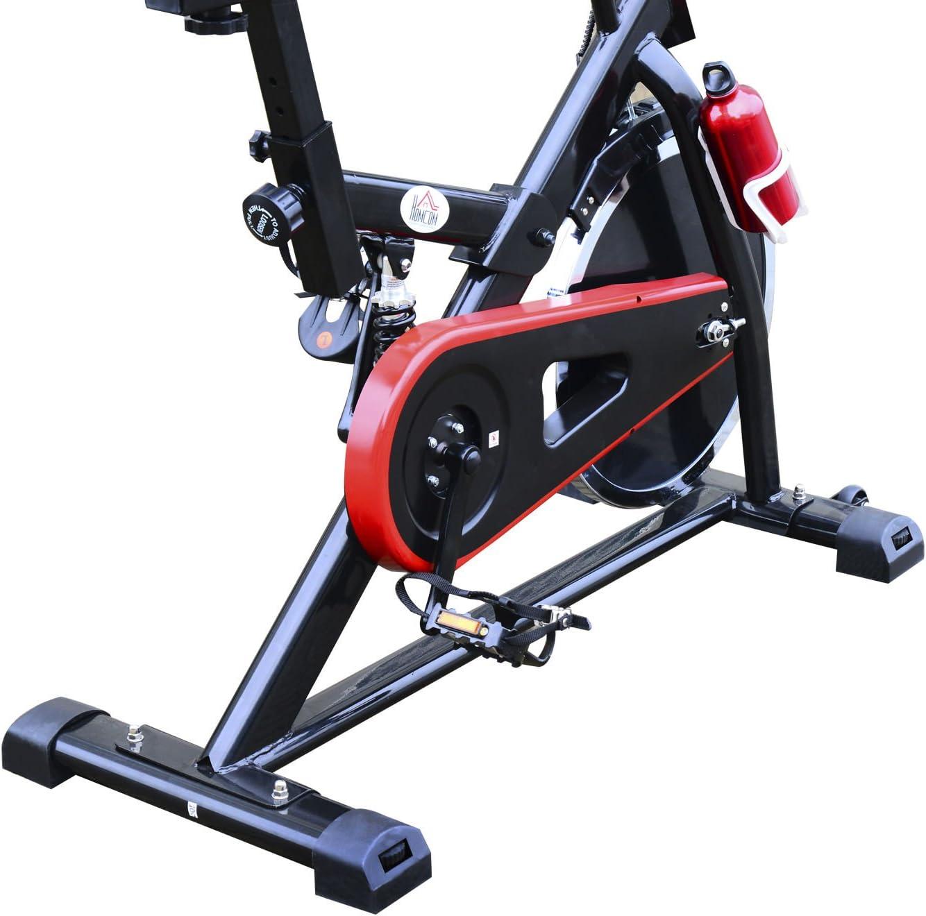 Homcom. Bicicleta estática profesional para entrenamiento de ...