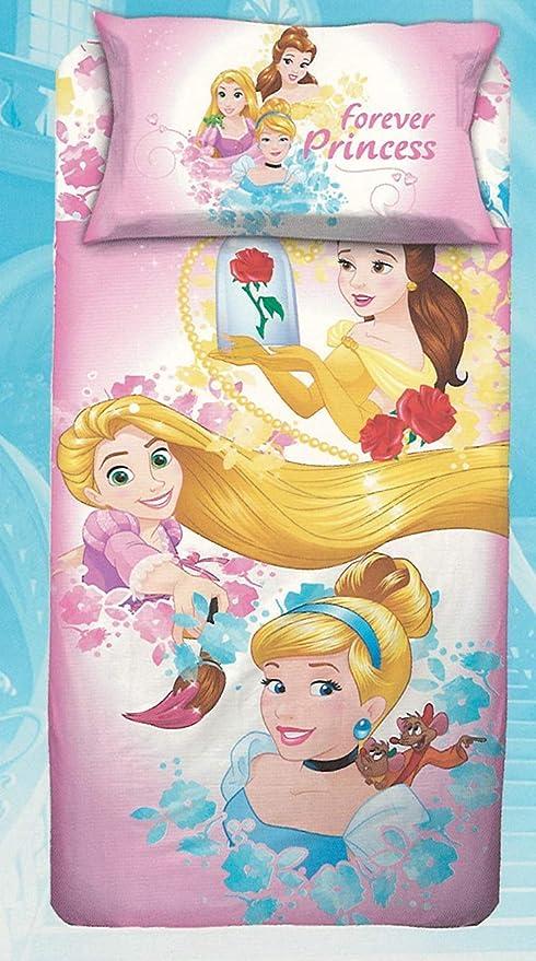 Sacco Copripiumino Disney.Disney Parure Sacco Copripiumino Principesse Princess Letto