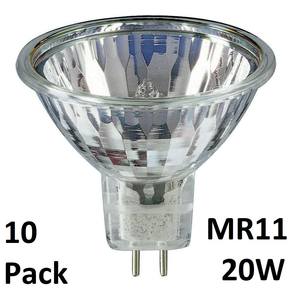 10Pack MR11 20W 12V Dimmable Dicrhoic Reflector Halogen Light Bulbs Low Voltage 12V GU4 20W-by YIFENG