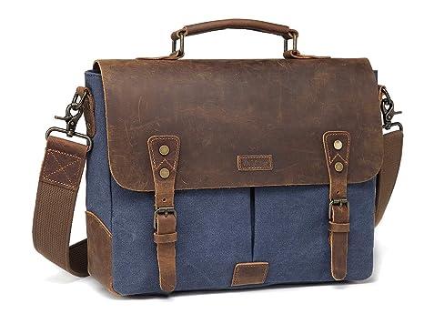 b66a364643ff Vaschy Genuine Leather Messenger Bag
