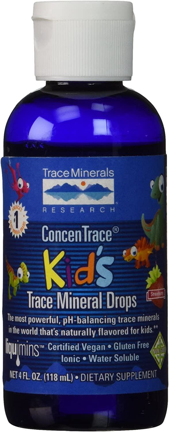 Trace Minerals Research Concentrate Kid's Trace Mineral Drops, 4 Fluid Ounce: Health & Personal Care