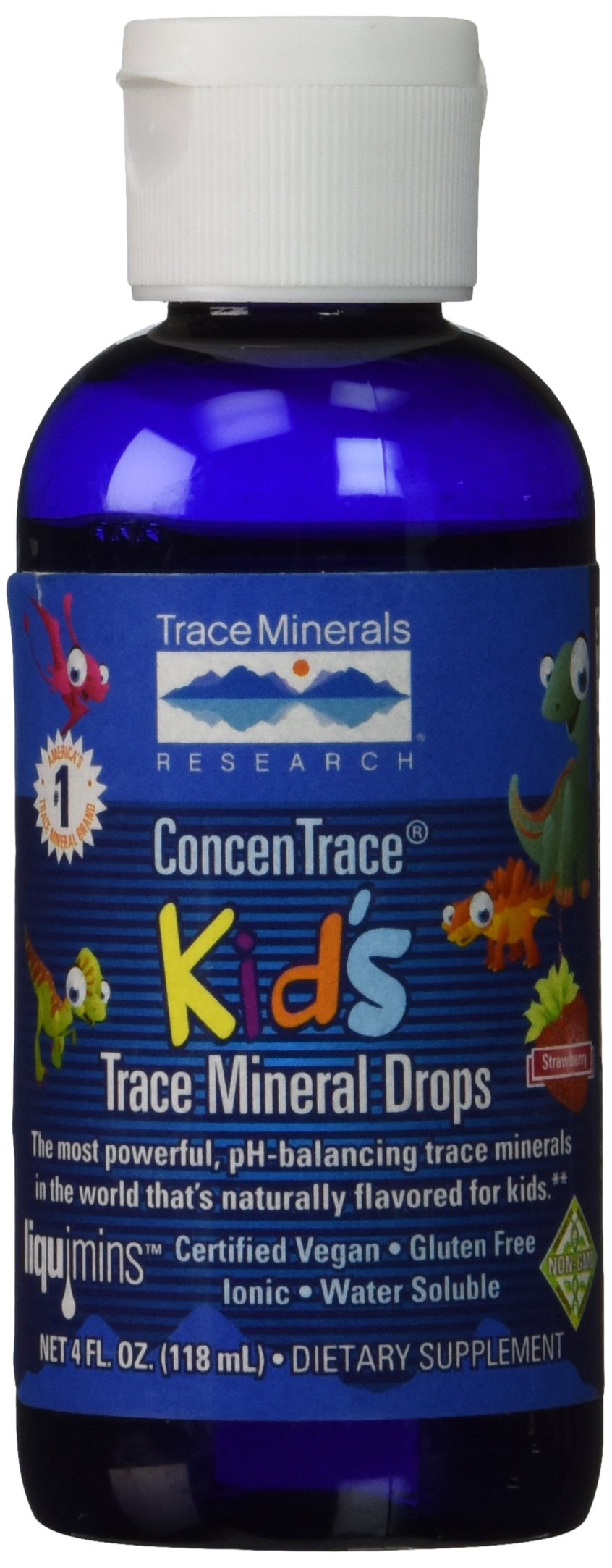 Trace Minerals Research Concentrate Kid's Trace Mineral Drops, 4 Fluid Ounce