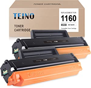 TEINO Compatible Toner Cartridge Replacement for Dell 331-7335 ues with Dell B1160 B1160w B1163w B1165nfw Mono Laser Printer (Black, 2-Pack)