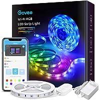 Govee Wifi-ledstrip, 5 m, smart RGB, app-bediening, kleurverandering, muzieksynchronisatie, werkt met Alexa en Google…