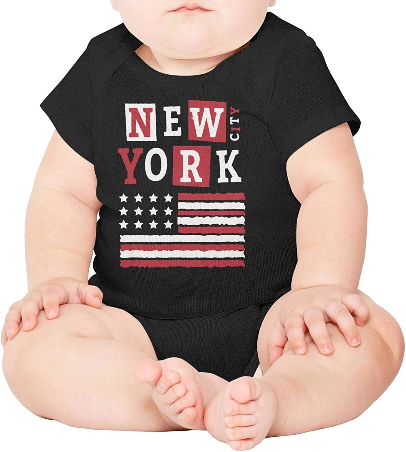 Amazon Com Popbelle New York Ny City Newborn Baby Onesies Baby Onesie Black Clothing Gifts One Piece Cotton Short Sleeve Clothing