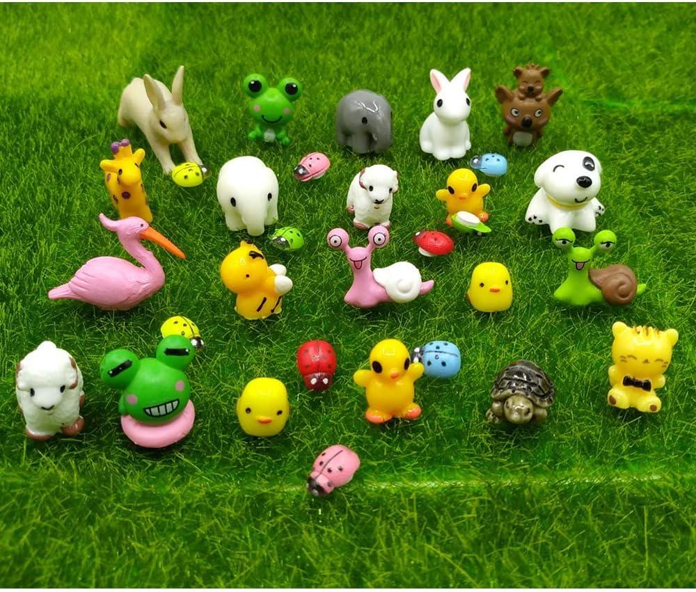 EMiEN 21PCS Little Duck 4 Colors Duckling Miniature Ornament for DIY Dollhouse Decoration Fairy Garden Plant D/écor Nice Decoration Accessories for Desk,Cabinet,Kids Room,Party etc.