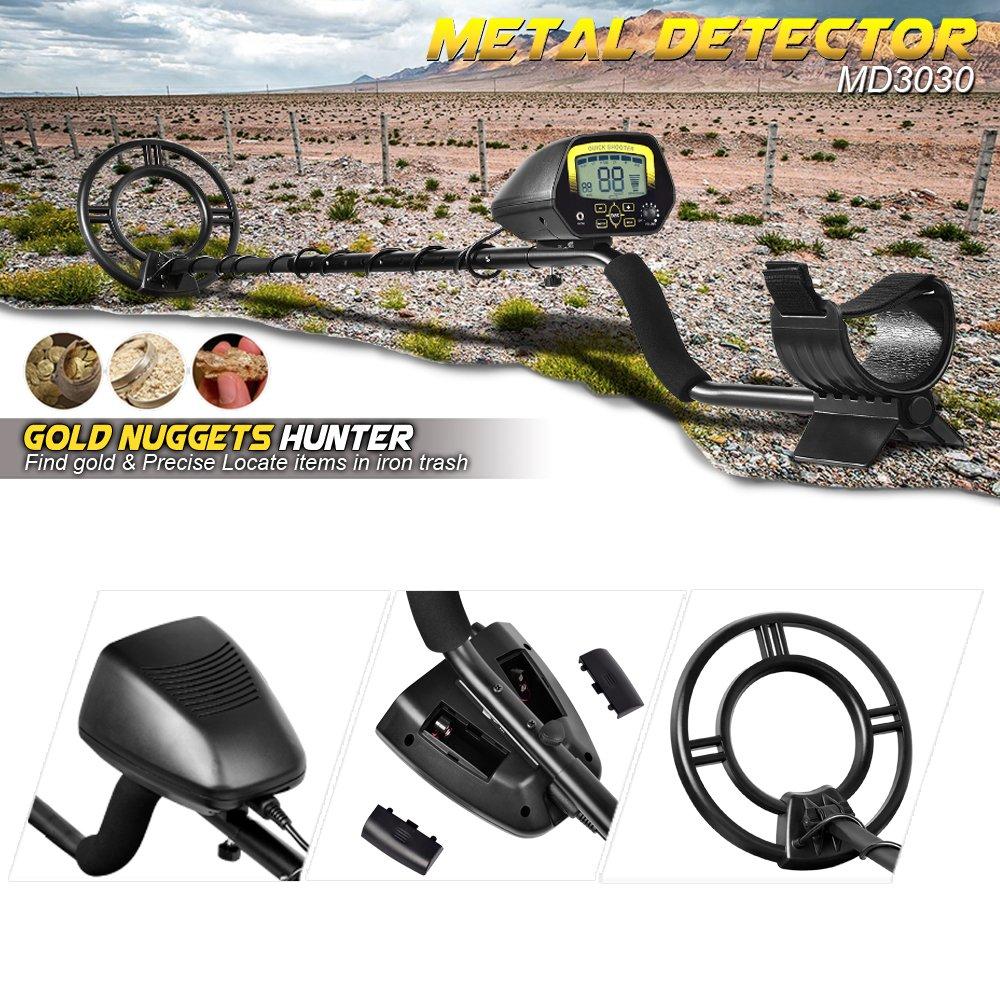 shuogou detector de metales detectores de md3030- ligero profesional metro Treasure Hunter pantalla LCD ORO Y Joyas caza en aguas poco profundas: Amazon.es: ...