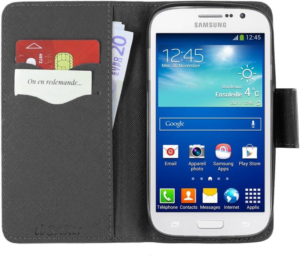 ebestStar - Coque Compatible avec Samsung Grand Plus Galaxy GT-i9060I, Grand Lite Etui PU Cuir Housse Portefeuille Porte-Cartes Support Stand, Noir ...