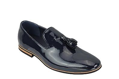 Zapatillas de Piel sintética para Hombre con diseño de Borla de Gamuza: Amazon.es: Zapatos y complementos