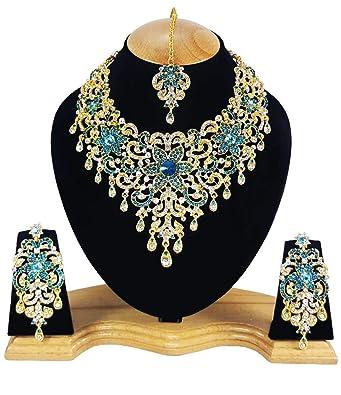 c21b1153918e31 Fkraft Parure Bijoux indiens Bollywood mariage Oriental  Amazon.fr ...