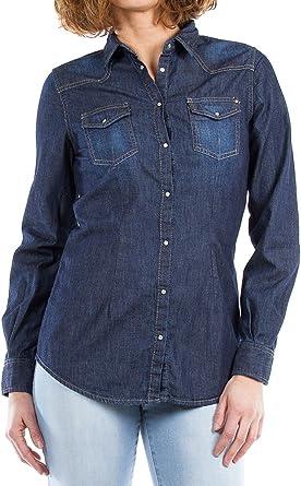 Carrera Jeans - Camisa Jeans 290 para Mujer, Estilo Western ...