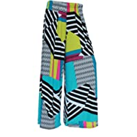 ZET Womens Plus Size Printed Palazzo Wide Leg Flared Ladies Trousers Pants 8-26