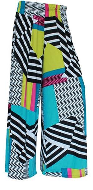 8eda5e67de657 ZET Womens Plus Size Printed Palazzo Wide Leg Flared Ladies Trousers Pants  8-26  Amazon.co.uk  Clothing