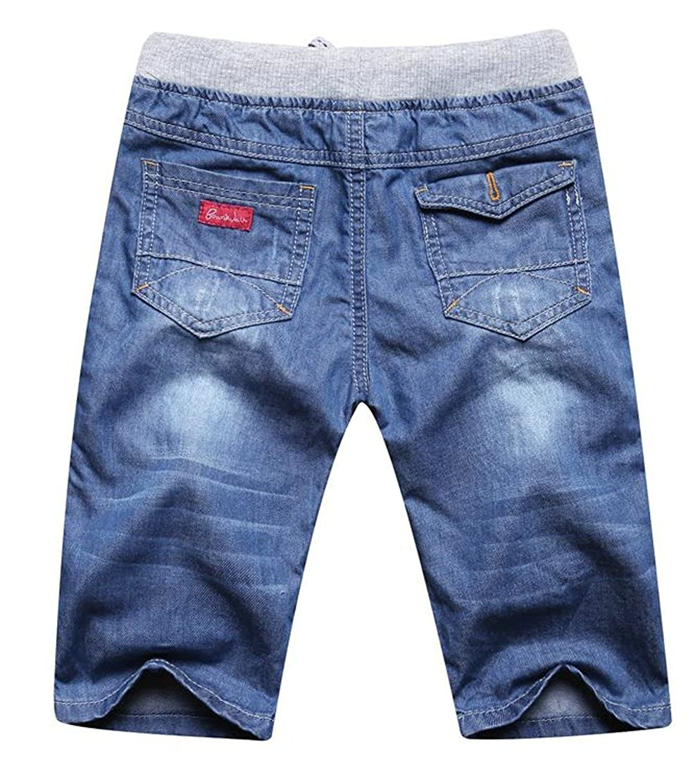 Lutratocro Boys Straight Leg Washed Classic Denim Summer Jeans Shorts