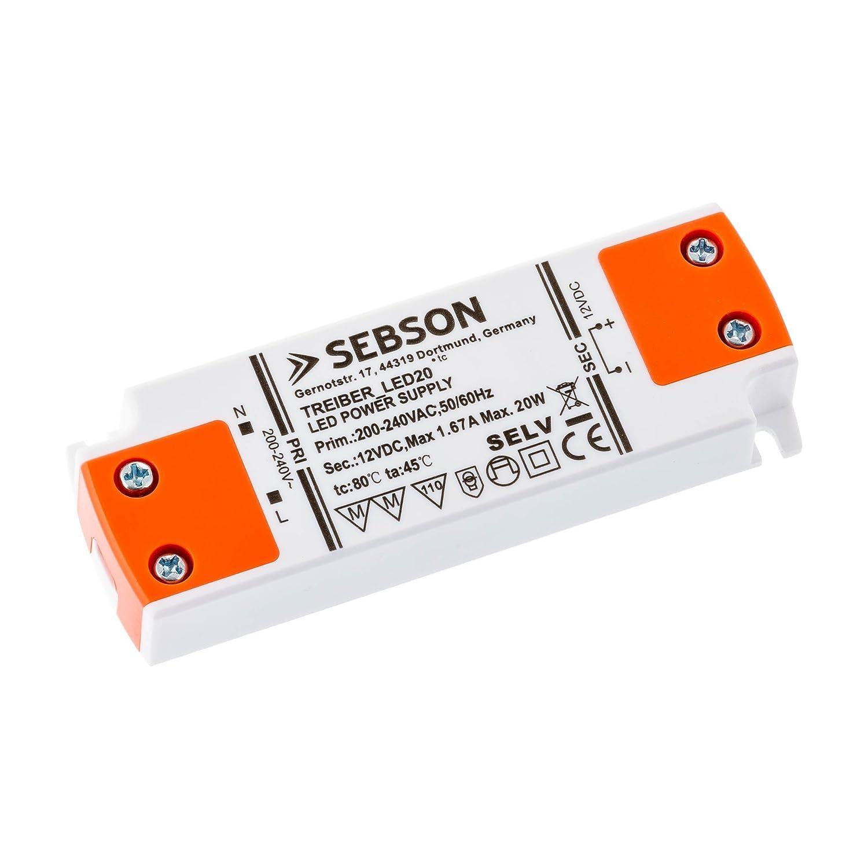 SEBSON® Transformador LED 20W