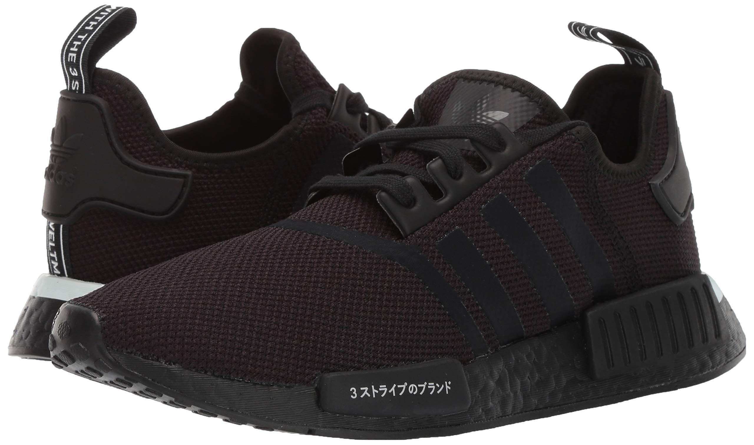 adidas Originals Men's NMD_R1 Running Shoe, Black/White, 4 M US by adidas Originals (Image #6)